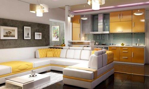 Фото - Як оформити інтер'єр суміщеної кухні з вітальні?