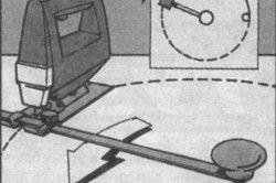 Схема вирізання кола електролобзиком