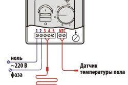 Схема підключення кабельного теплої підлоги