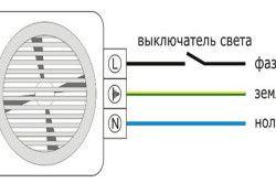 Схема підключення вентилятора до електричної проводки