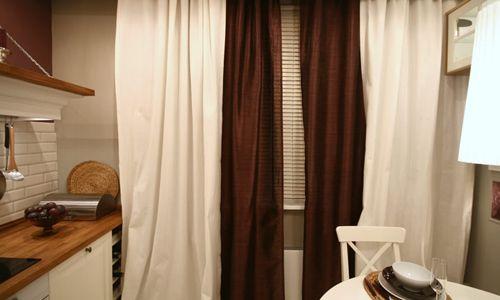 Фото - Як пошити штори, використовуючи поєднання двох кольорів?