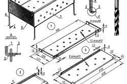 Схема пристрою стаціонарного барбекю.