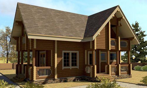 Фото - Технологія будівництва будинків з профільованого бруса