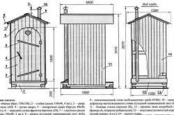 Схема будівництва деревяної будки туалету