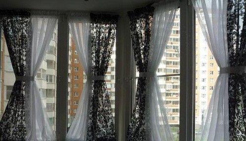 Фото - Як повісити штори на балконі або лоджії
