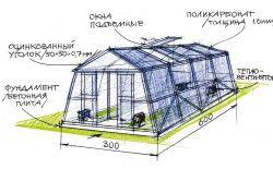 Схема пристрою опалювальної теплиці для полуниці