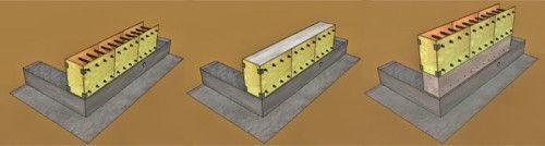 Схема зведення стіни з керамзитобетону
