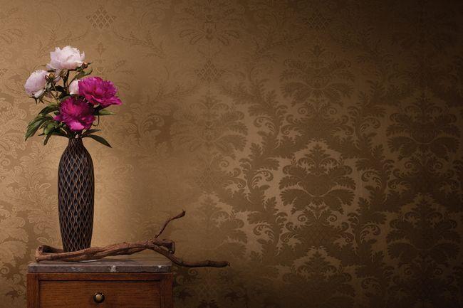 Бамбукові шпалери на стіні