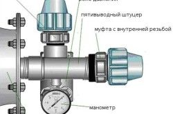 Схема підключення гідроакумулятора