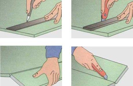Фото - Як правильно різати листи гіпсокартону?