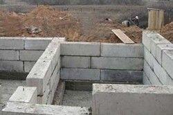 як правильно зробити фундамент з блоків