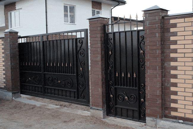 Фото - Як правильно зробити і встановити ворота?