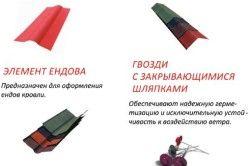 Добірні елементи для покрівлі з ондуліна