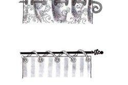 Варіанти кріплення штор на карнизі