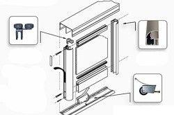 Схема двері купе міжкімнатних