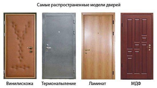 Схема деревяних дверей