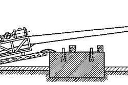 Схема установки вентиляторів на фундамент накаткой