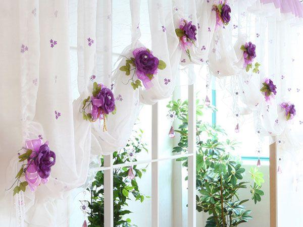 Фото - Як за допомогою підручних матеріалів прикрасити штори своїми руками?
