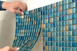 Укладання мозаїки на паперовій або сітчастої основі