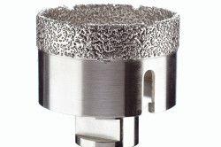 Алмазне покриття коронки значно подовжує термін експлуатації при роботі з найтвердішою плиткою.