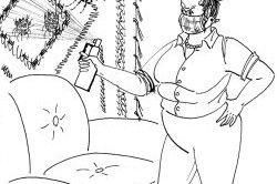 Позбавлення від бліх за допомогою дихлофосу.