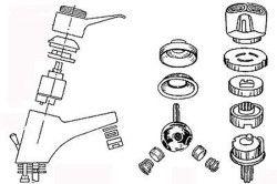 Схема розбору кульового крана