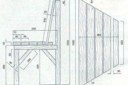 Схема монтажу лавки