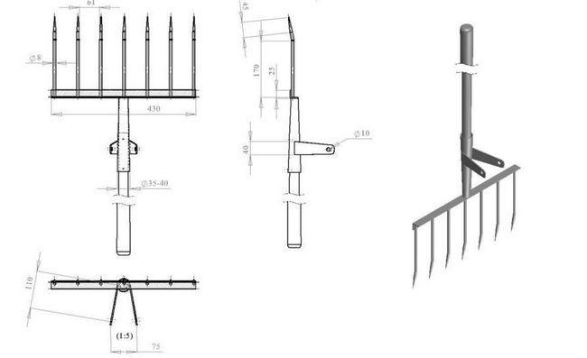 Схема зварювання елементів чудо-лопати