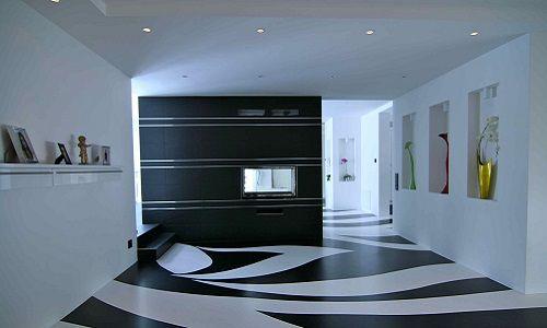 Наливна декоративний підлогу в інтерєрі