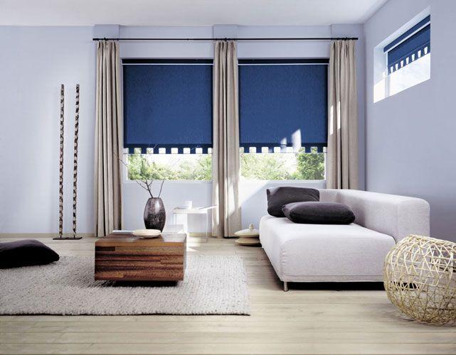 Фото - Як зробити дизайн штор для залу на два вікна