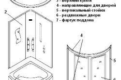 Пристрій душової кабіни