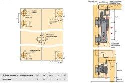 Схема установки двері-гармошки