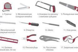 Інструменти для монтажу двері-гармошки