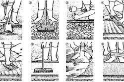 Схема укладання доріжки з декоративного бетону