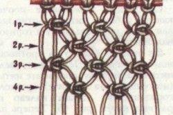 Схема плетіння гамака-макраме