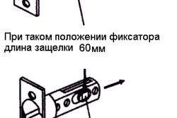 Регулювання довжини засувки дверної ручки міжкімнатних дверей