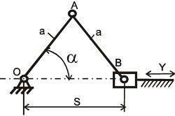 Принципова схема кривошипно шатунного механізму