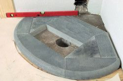 Фундамент під камін з каменю.