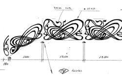Ескіз кованого малюнка перил