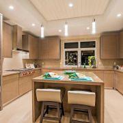 Мякий точковий світло на кухні