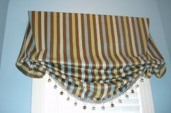Приклад сучасного оформлення лондонської штори