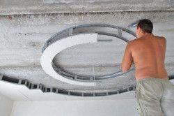 Монтаж дворівневого стелі з гіпсокартону