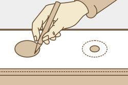 Розташування люверсов на тканини