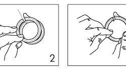 Схема кріплення люверсів на тканини