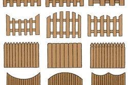 Різновиди деревяних парканів
