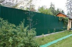 Приклад паркану з профнастилу