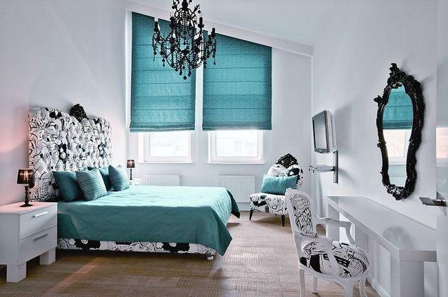 Фото - Як зробити правильний підбір кольору штор до шпалер?