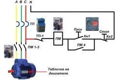 Схема підключення двигуна до заглибних насосів