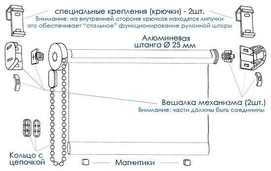 Фото - Як зробити рол штори своїми руками?