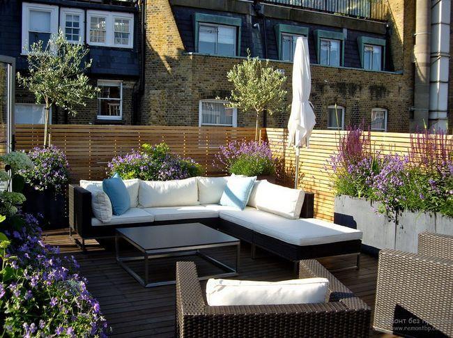 Стильні меблі - краще рішення для тераси на даху